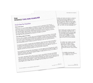 PhD Science Family Tip Sheets
